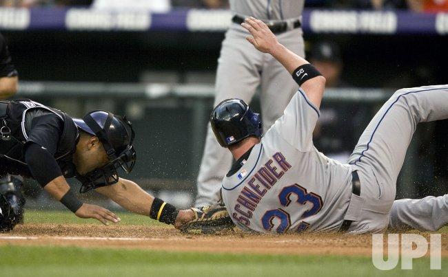 New York Mets vs Colorado Rockies.