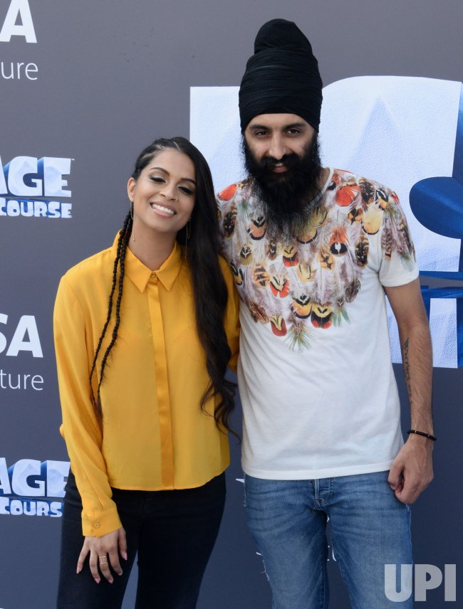 "Lily Singh and Humble the Poet attend the ""Ice Age ..."