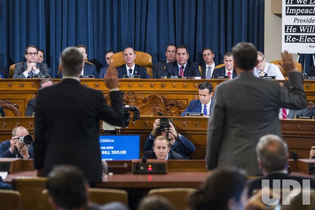 House Permanent Select Committee on Intelligence hearing on the impeachment inquiry into US President Donald J. Trump