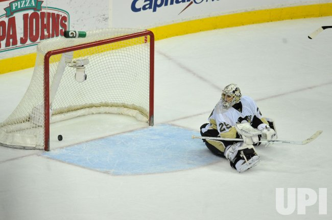 Pittsburgh Penguins' goalie Marc-Andre Fleury in Washington