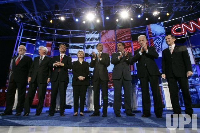 2008 DEMOCRATIC PRESIDENTIAL CANDIDATE DEBATE AT SAINT ANSELM COLLEGE IN MANCHESTER NEW HAMPSHIRE