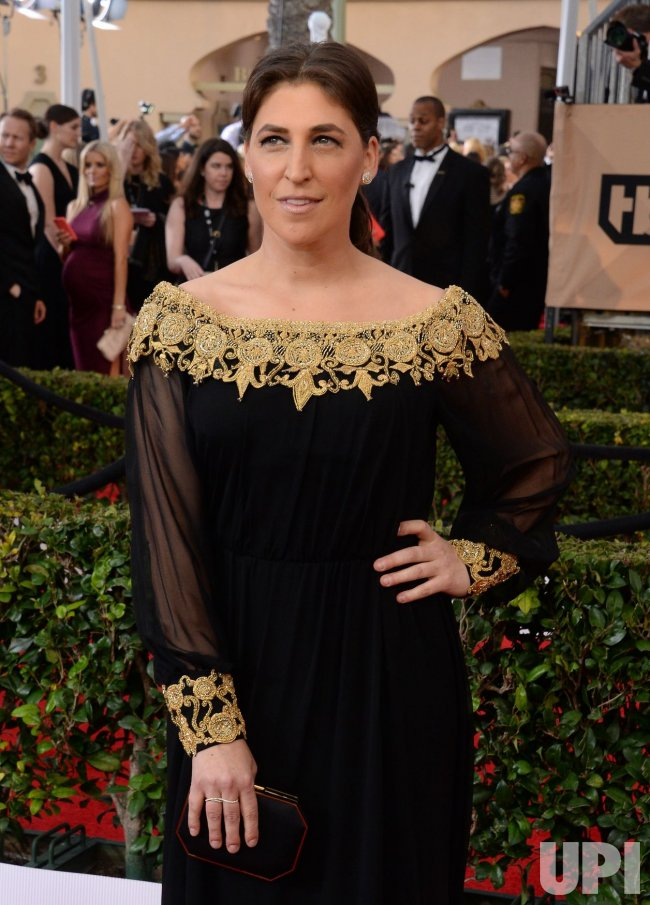 Mayim Bialik attends the 22nd annual Screen Actors Guild Awards