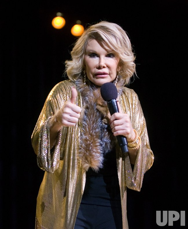 JOAN RIVERS PERFORMS AT RED ROBINSON SHOW THEATER NEAR VANCOUVER