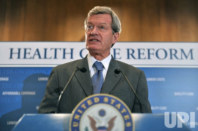 Sen. Max Baucus speaks on health care reform in Washington