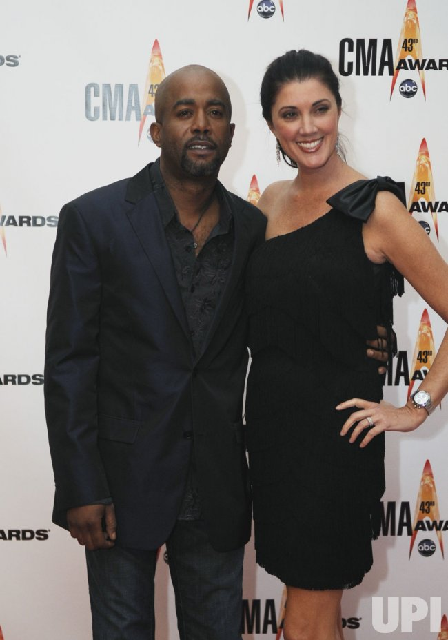 Darius Rucker and Beth Leonard arrive at the 43rd Annual CMA Awards in Nashville