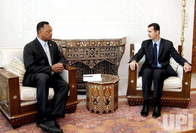 CIVIL RIGHTS LEADER JESSE JACKSON MEETS WITH BASHAR AL-ASSAD