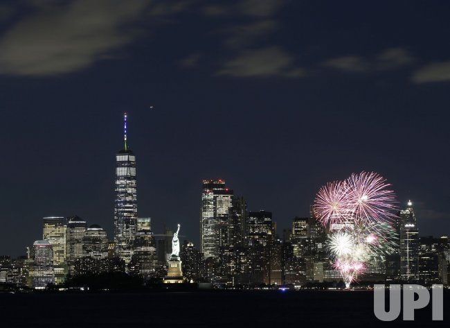 Fireworks Celebrate COVID Restrictions Lifted in New York