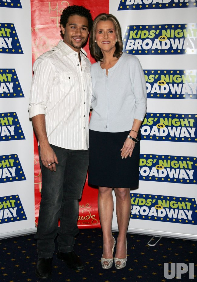 """Corbin Bleu and Meredith Vieira attend the 14th Annual Kids' Night on Broadway """"Fan Festival"""" at Madame Tussauds in New York"""