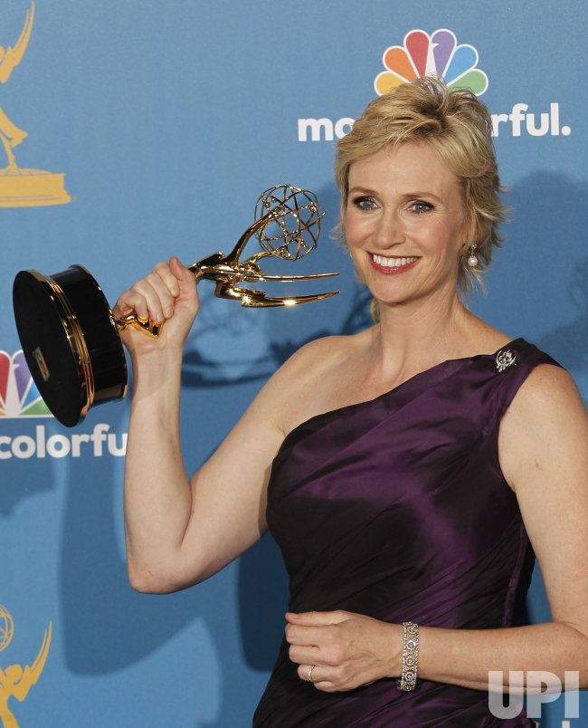 Jane Lynch wins at the 62nd Primetime Emmy Awards in Los Angeles