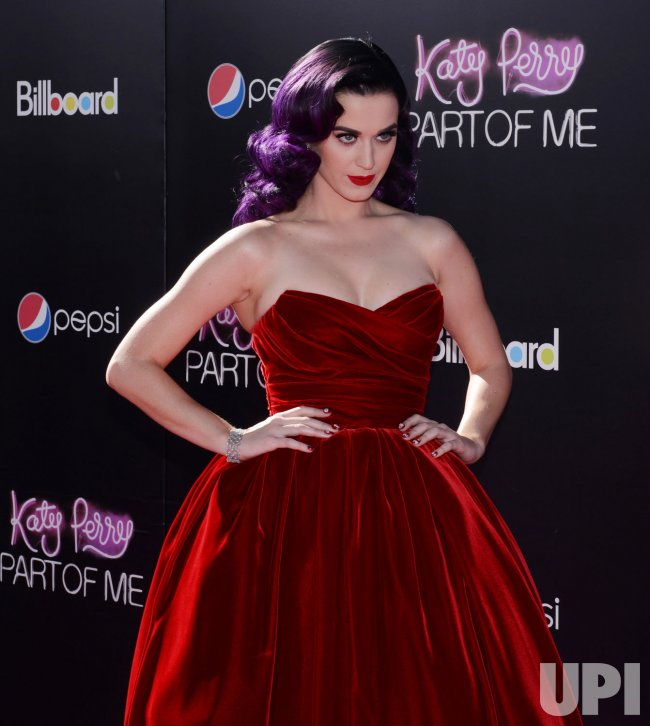 """Katy Perry attends the premiere of her documentary """"Katy Perry: Part of Me"""" in Los Angeles"""