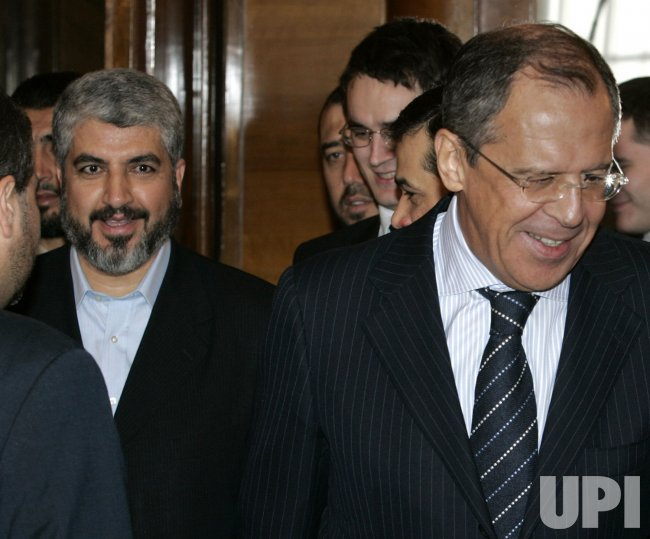 RUSSIAN FOREIGN MINISTER LAVROV MEETS WITH HAMAS LEADER MESHAAL IN MOSCOW