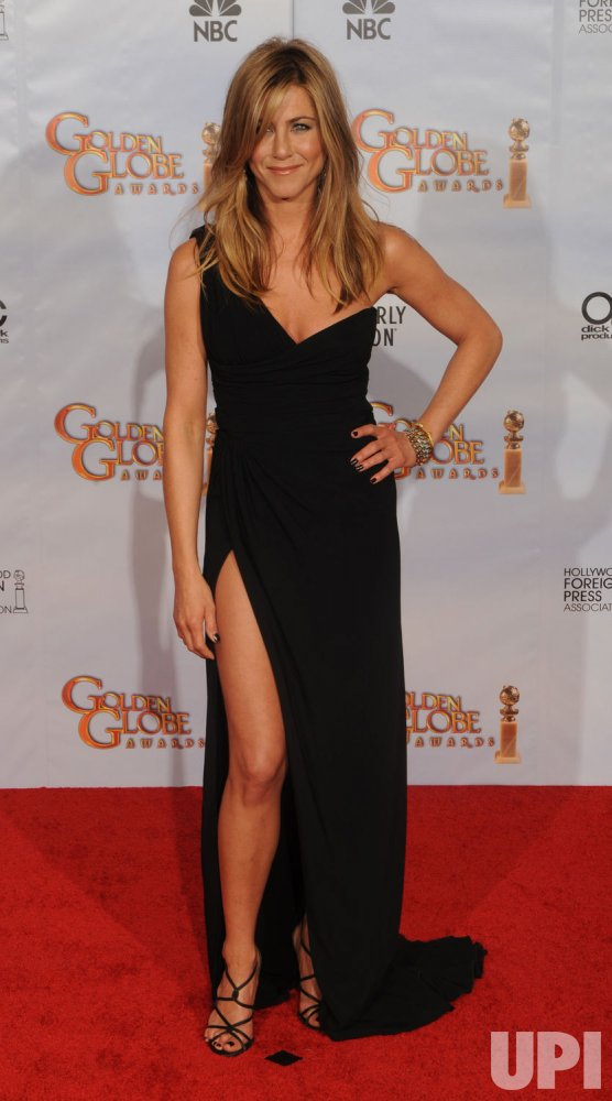 Jennifer Aniston appears at the 67th annual Golden Globe Awards