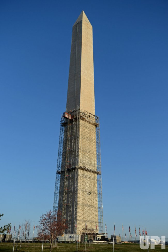 Washington Monument repairs in Washington