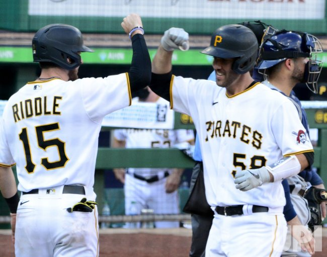 Pittsburgh Pirates Jacob Stallings Homers in Pirates Riddle