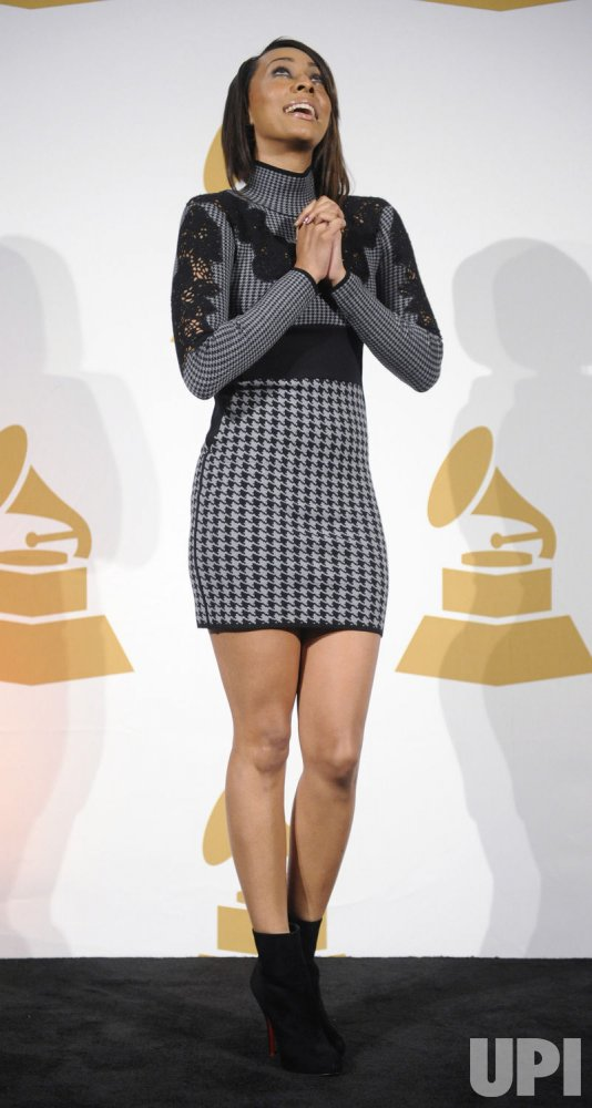 Keri Hilson poses backstage at the GRAMMY Nomination Concert Live in Los Angeles