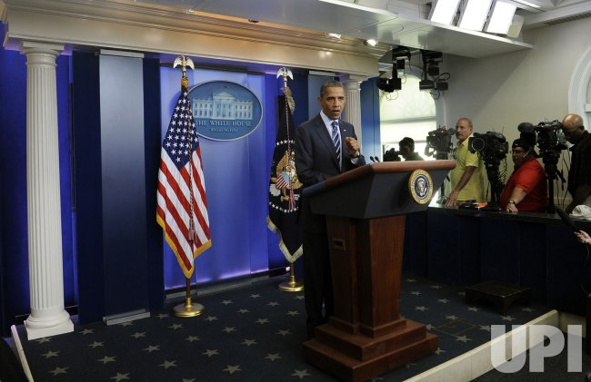 Obama discusses meeting with Congressional leaders in Washington