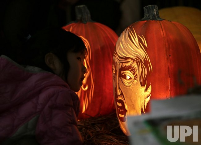 home donald trump hillary clinton pumpkins