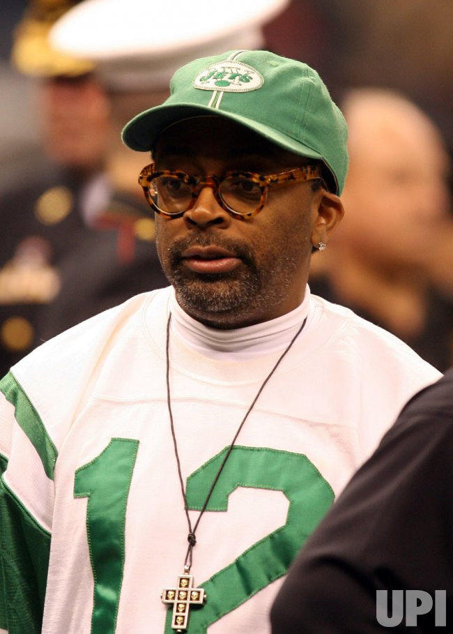 Director Spike Lee at the NFC Divisional Playoff game between New Orleans Saints and Arizona Cardinals