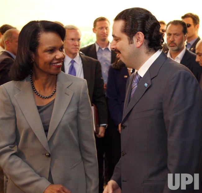 U.S. Secretary of State Condoleezza Rice makes an unannounced visit to Lebanon