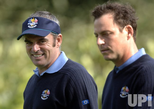 THE EUROPEAN TEAM PRACTICES FOR THE RYDER CUP