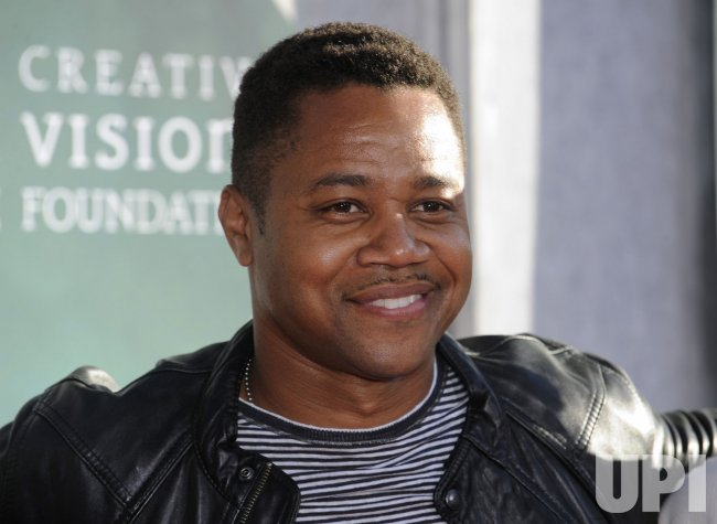 "Actor Cuba Gooding Jr. attends a benefit screening of the film ""The Sorcerer's Apprentice"" in Burbank, California"