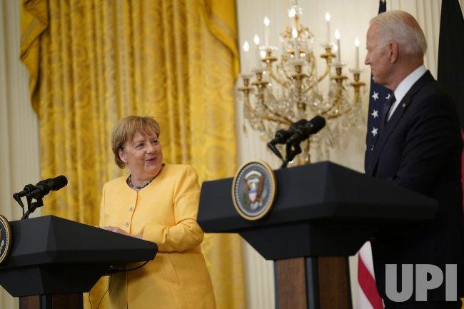 Biden and Merkel Joint Press Conference in Washington