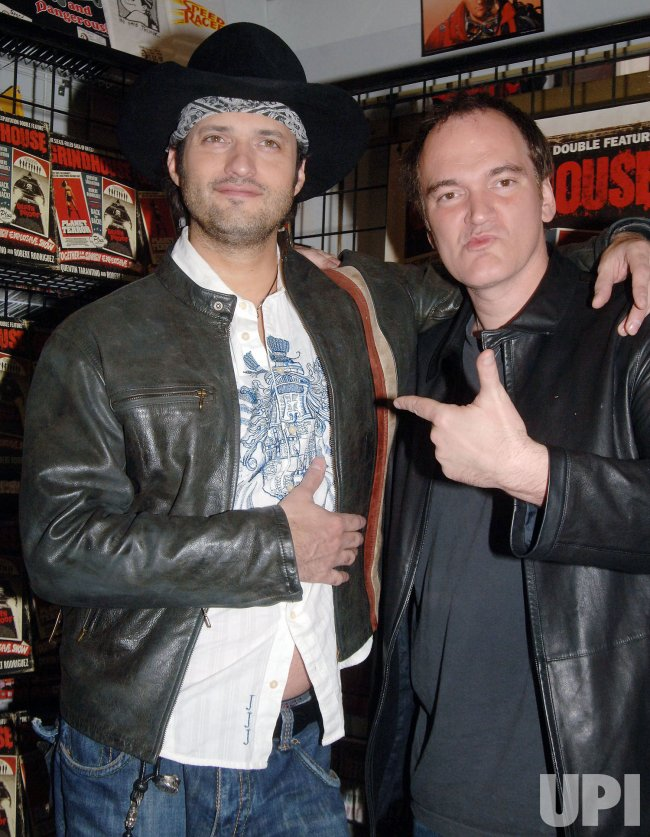 "DIRECTOR TARANTINO PROMOTES NEW FILM ""GRIND HOUSE"" IN NEW YORK"
