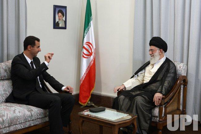 Syrian president meets with Iran's supreme leader Ayatollah Ali Khamenei