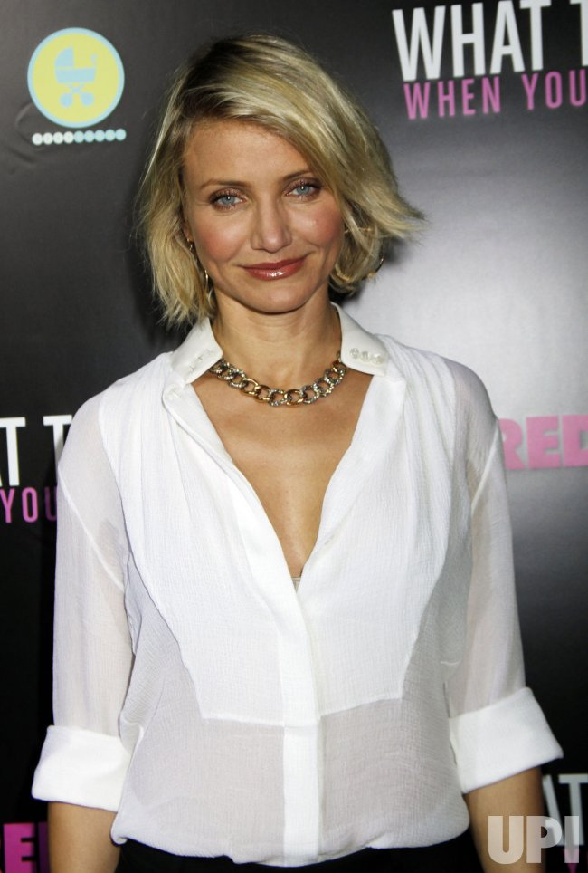 "Cameron Diaz arrives for the ""What to Expect When You're Expecting"" Premiere in New York"