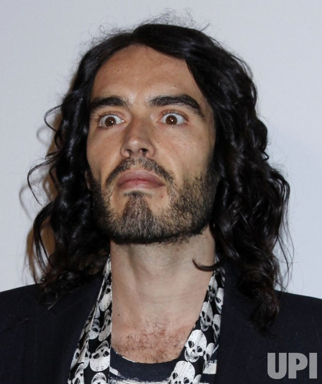 Russell Brand arrives at the Clive Davis Pre-Grammy Gala in Beverly Hills