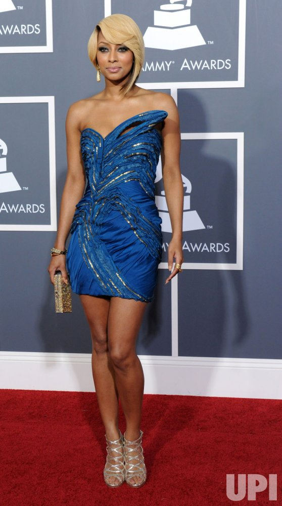 Keri Hilson arrives at the 53rd annual Grammy Awards in Los Angeles
