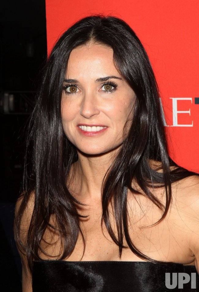 Demi Moore arrives at Time Magazines 100 Most Influential People Gala at the Time Warner Center in New York