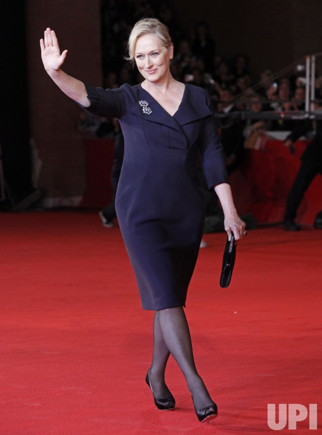 Meryl Streep arrives at the Rome International Film Festival