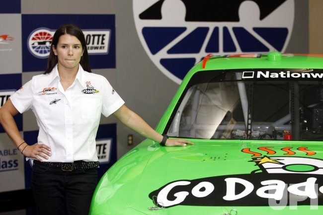 Race Car Driver Danica Patrick at the Charlotte Motor Speedway in Concord, North Carolina