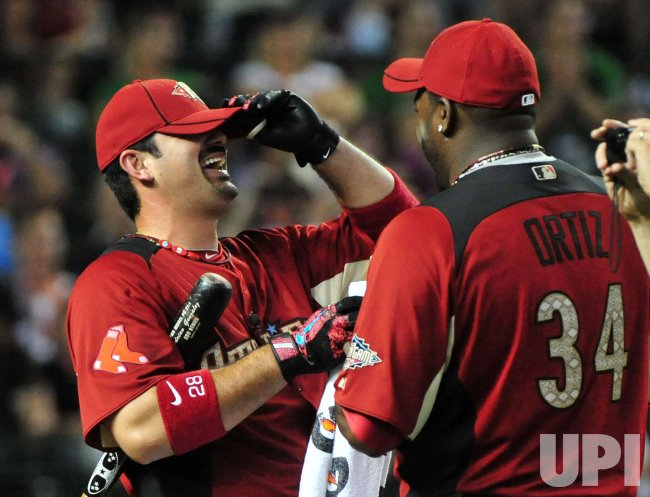 David Ortiz and Adrian Gonzalez during the 2011 Home Run Derby in Arizona