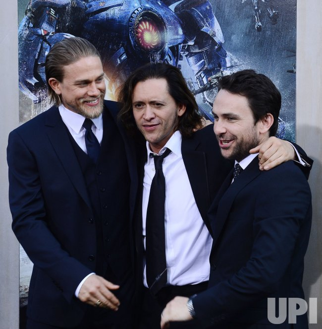 "Charlie Hunnam, Clifton Collins Jr. and Charlie Day attend the ""Pacific Rim"" premiere in Los Angeles"