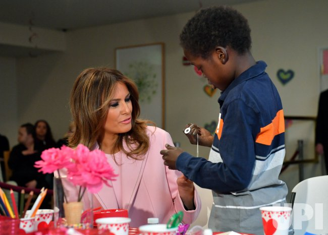 First Lady Melania Trump Visits Children At Nih In