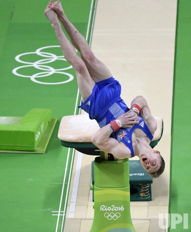 School Shooting Britain: Great Britain Gymnast Wilson Competes In The Men's