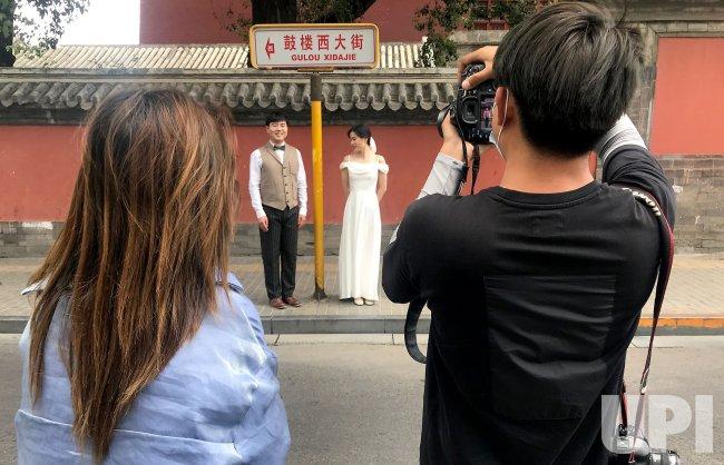Chinese Pose of Wedding Photos in Beijing, China
