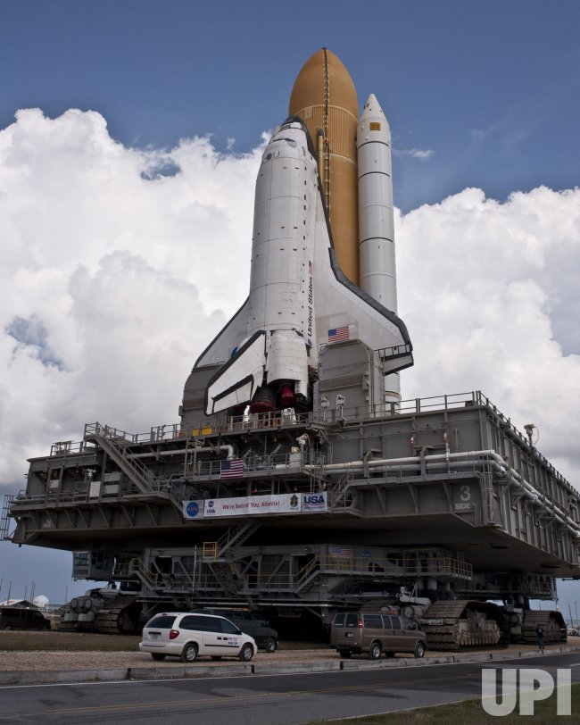 NASA's Space Shuttle Atlantis rolls out to launch pad at ...