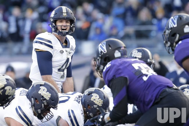 Pittsburgh Nathan Peterman stands at the line