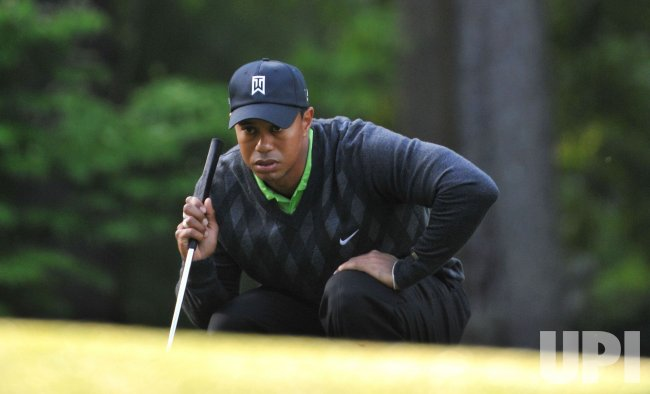 Tiger Woods during the first round of the Quail Hollow Tournament in Charlotte