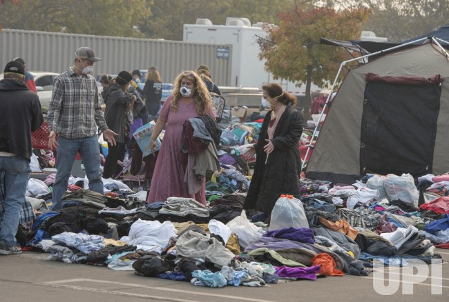 Clothing distributed to fire California fire victims in Chico