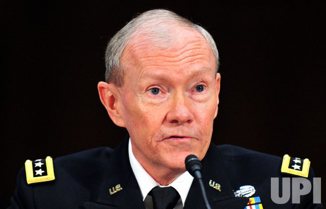 Army Gen. Martin Dempsey testifies during his confirmation hearing in Washington