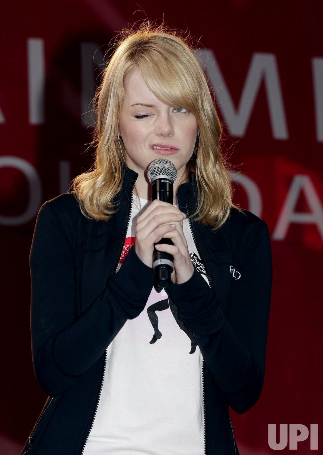 Emma Stone and Olivia Wilde Participate in the 15TH Annual EIF Revlon Run/Walk for Women in Times Square in New York