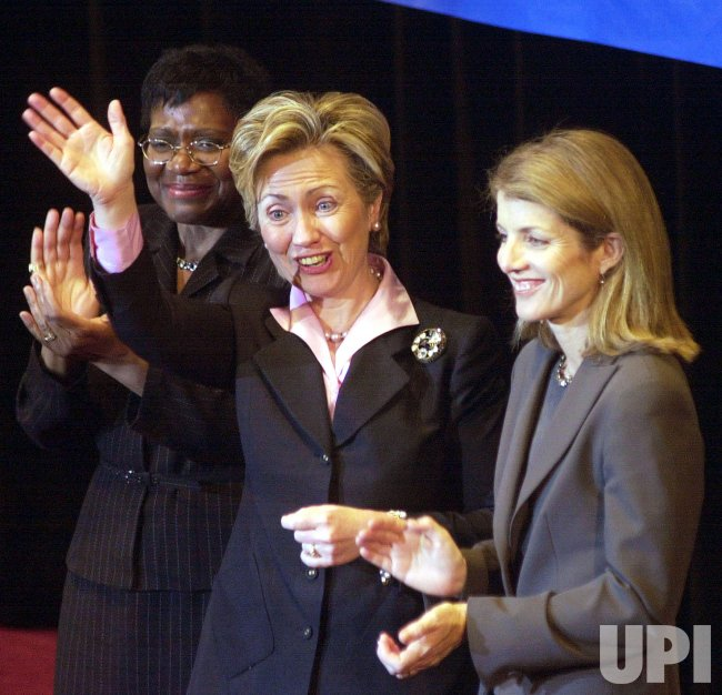 CAROLINE KENNEDY CAMPAIGNS FOR HILLARY