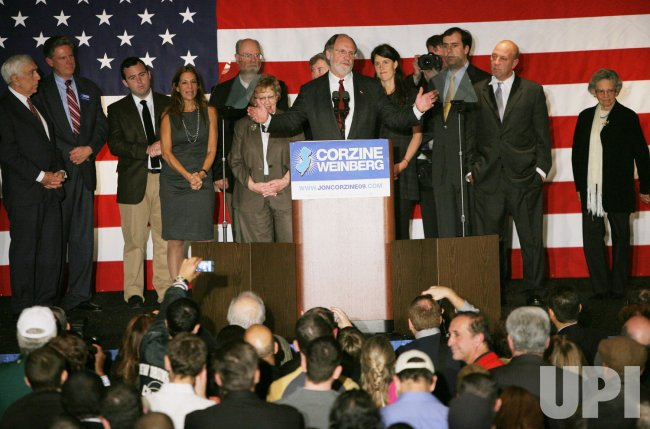 Governor Jon Corzine loses gubernatorial election in New Jersey