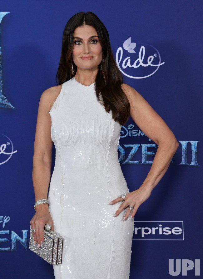 """Idina Menzel attends """"Frozen II premiere"""" in LA - UPI.com  Idina Menzel at..."""