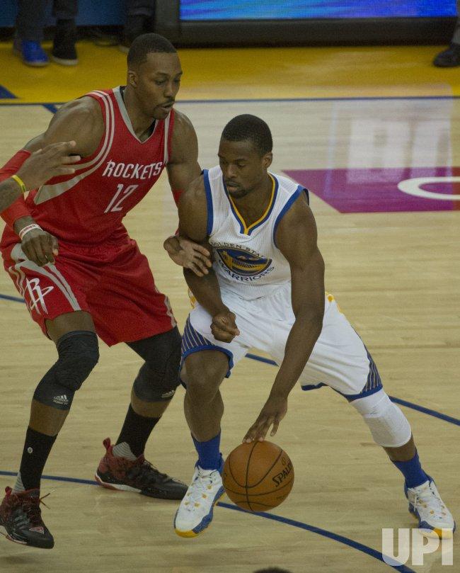 Rockets Vs Warriors Cast: Warriors Harrison Barnes Drives On Rockets Dwight Howard
