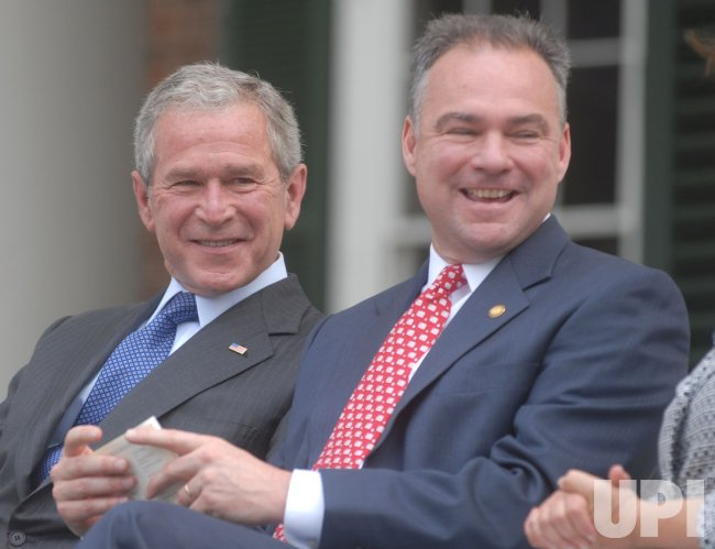 President Bush celebrates Independence Day at Monticello